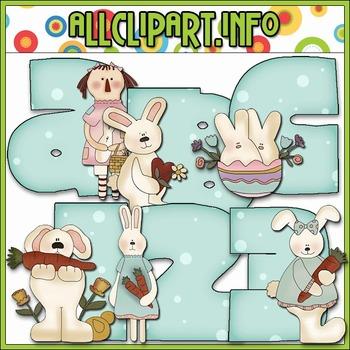 Some Bunny Lettering Delights Alphas - Cheryl Seslar Clip Art