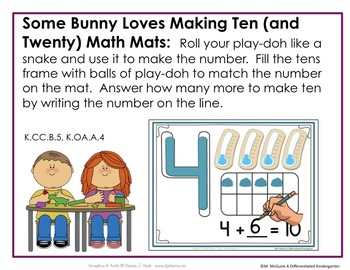 Some Bunny Loves Math Stations Galore-10 Stations Differentiated and Aligned