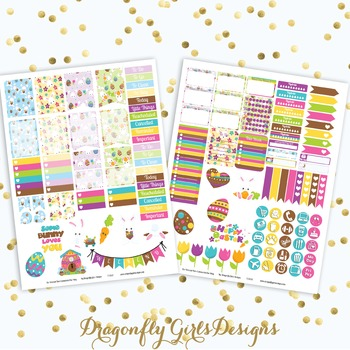 Some Bunny Loves You Easter Printable Planner Stickers Mini Kit