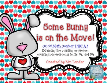 Some Bunny is on the Move!  Math counting puzzles