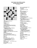 Some Calculus, Some Mathematicians, More Math Crossword