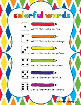 Some Colorful Spelling Practice  Activities