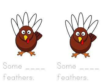 Some Feathers Thanksgiving Turkey Book