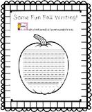 Some Fun Fall Writing