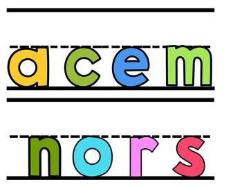 Some Letters (Pocket Chart Activity)