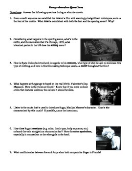 an analysis of the film some like it hot by billy wilder In the early scenes of some like it hot, the 1959 billy wilder masterpiece that is consistently chosen by critics and film people as the best comedy ever made, a pair of itinerant depression.