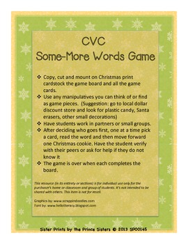 Some More CVC Game