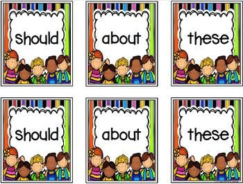 Some Sight Word Matching:  LOW PREP Sight Word Card Game