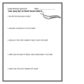 """""""Some Smug Slug"""", by P. D. Edwards, Comp. Questions and Project Sheets"""