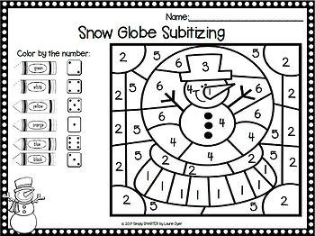 Some Snowy Day Math Color By The Code:  NO PREP Winter Math Activities