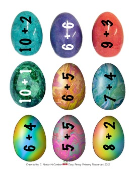 Some Sums:Dragon Eggs - Addition Practice Sums 10-20