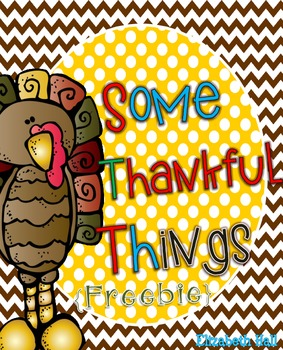 Some Thankful Things {Freebie}