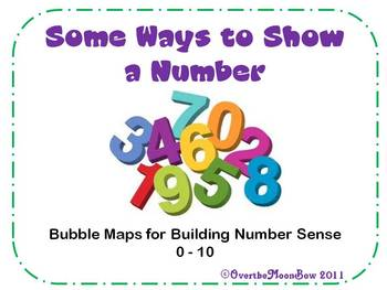 Some Ways to Show a Number 0-10 Bubble Maps