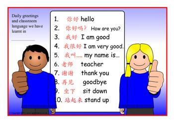 Some basic greetings in Mandarin vol 1