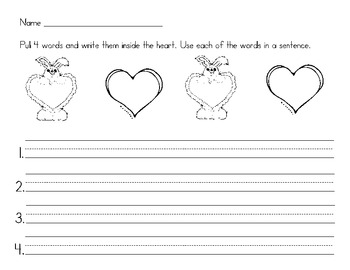 Some bunny loves to write! Valentine writing