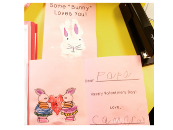 """Some 'bunny' loves you"" valentine"