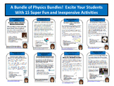 Bundle 2:  Physics Activities in momentum, Newton's Laws and more