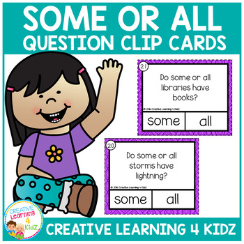Some or All Question Task Cards