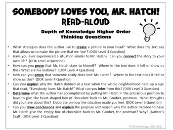 Somebody Loves You, Mr. Hatch Differentiated Interactive Reading Activities