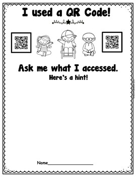 Somebody Loves You, Mr. Hatch QR Codes and QR Recording Sheet