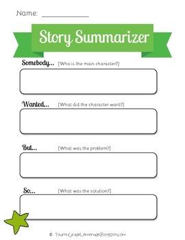 Story Summarizing-Somebody Wanted But So-Graphic Organizer