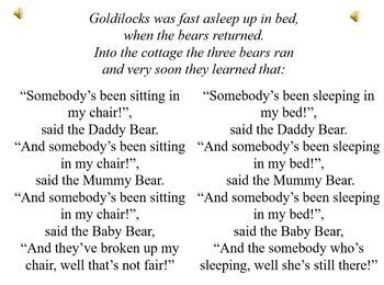 """Somebody"" (from my ""Goldilocks"" musical)"