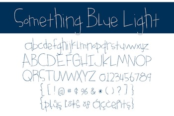 Something Blue Light Font for Commercial Use