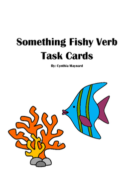 Something Fishy Verbs Task Cards or Literacy Center