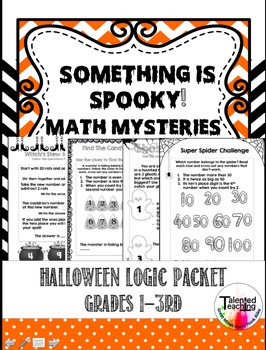 Early Finisher's Halloween Spooky Math-Challenge Your Gifted Students