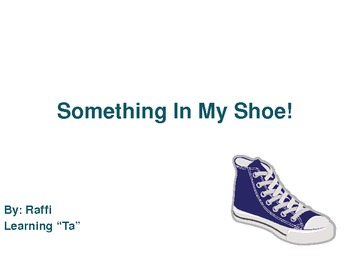 """Something in My Shoe"":  Introducing ""Ta"" for Kinder and 1st Grade"