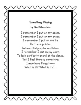 Something's Missing by Shel Silverstein Poetry Center Pack