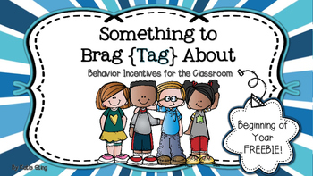 Something to Brag {Tag} About: Beginning of the Year FREEBIE