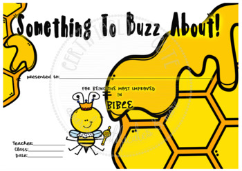 Something to Buzz About Most Improved in Bible -- FREE!!