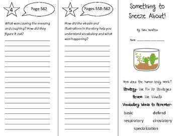 Something to Sneeze About! Trifold - 5th Grade Literacy by Design Theme 16