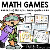 End of the Year Math Games for Kindergarten