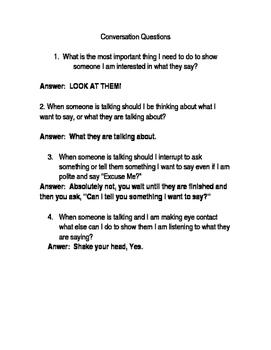 Sometimes- Conversations Questions