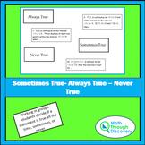 Calculus - Sometimes True - Always True - Never True