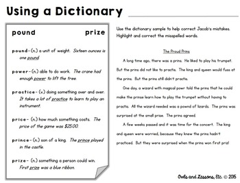 Sometimes You Just Need a Worksheet - Dictionary Skills