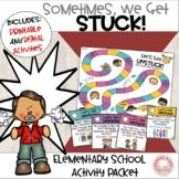 Social Skills:  Sometimes we get stuck!  Activity Packet.