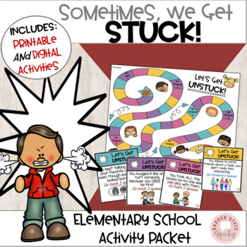 Social Skills:  Sometimes we get stuck!  Activity Packet.