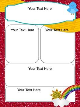 Somewhere Over The Rainbow Editable Newsletter Template