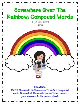 Somewhere Over the Rainbow Making Compound Words