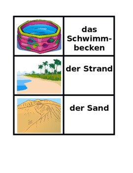 Sommer (Summer in German) Concentration Games