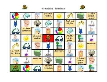 Sommer (Summer in German) Schnecke Snail game