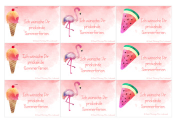 Sommerferiengrüße / Summer Holiday Greeting Cards