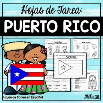 Somos puertorriqueños - Hojas de tarea sobre Puerto Rico