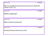 Son: Book Two Ch. 1-4 Bloom's Taxonomy Task Cards and Worksheet