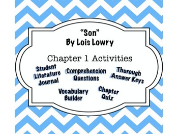 """Son"" by Lois Lowry - Chapter 1 Guide - Complete Interactive Student Journal"