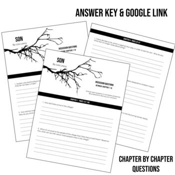 Son by Lois Lowry Discussion / Comprehension Questions