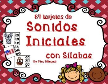 Sonidos iniciales con Silabas - Dual Language - Spanish